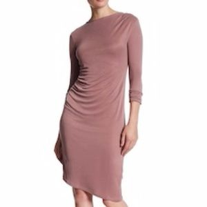 Topshop Mid Sleeve Bodycon Pink Dress
